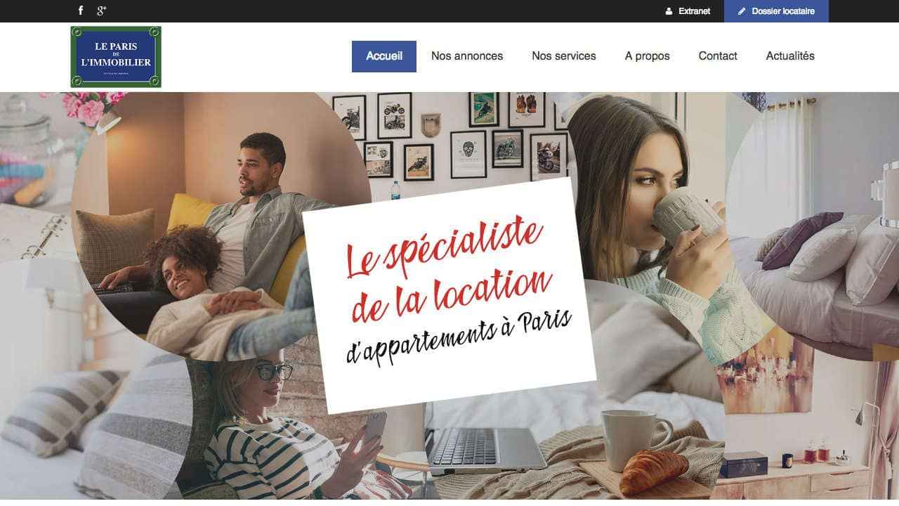 Homepage du Paris de l'immobilier