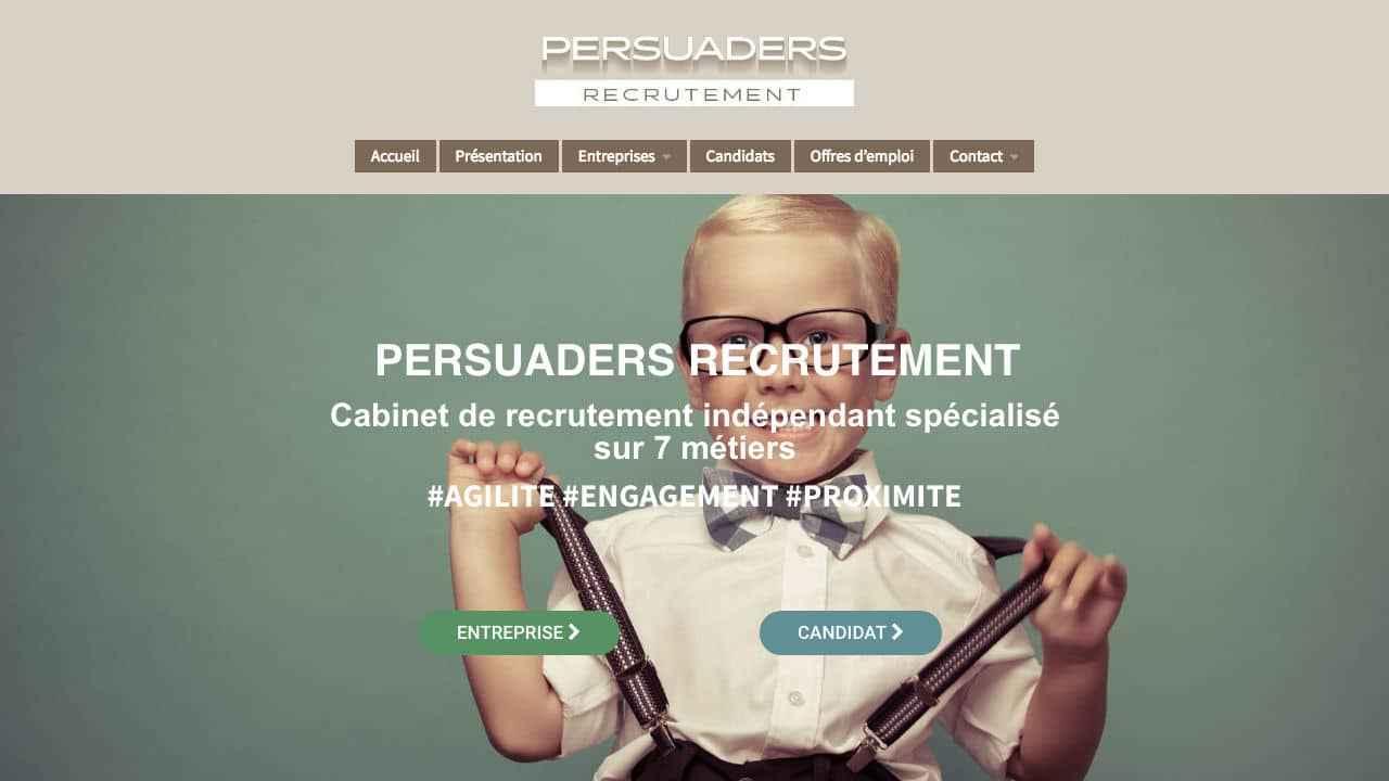 Homepage site internet cabinet de recrutement