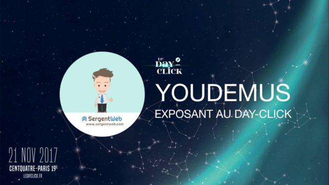 Youdemus sera présent au Day-Click le 21 novembre 2017